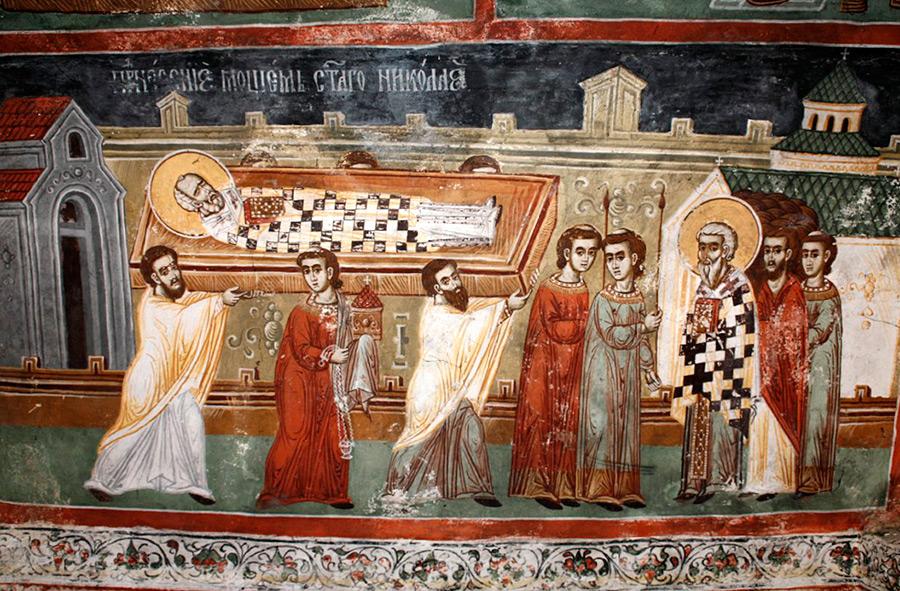 Перенесение мощей святителя Николая Чудотворца из Мир Ликийских в Бар